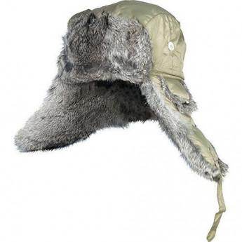 Шапка-ушанка NORFIN ARDENT оливковый меховой кролик р.L