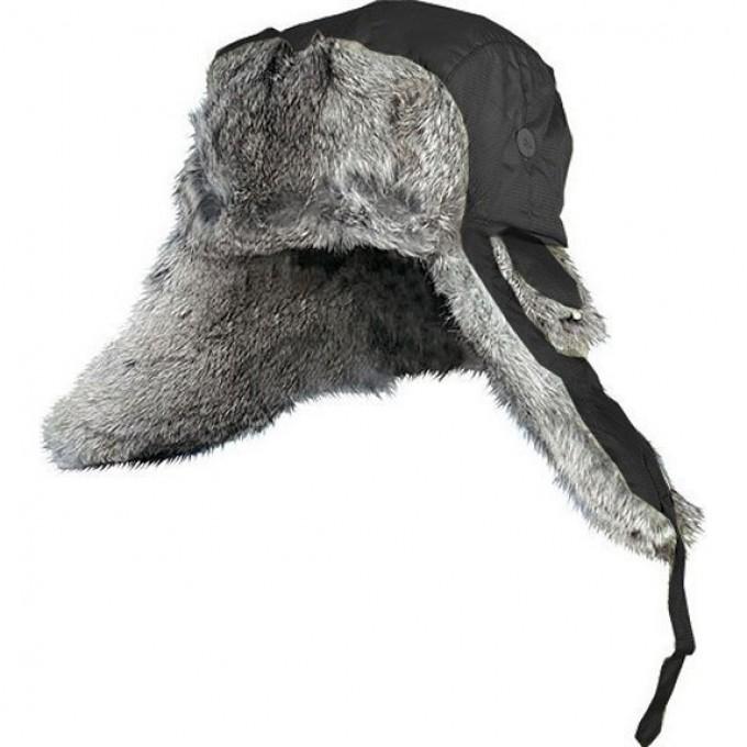 Шапка-ушанка NORFIN ARDENT черный меховой кролик р.XL 302766-XL