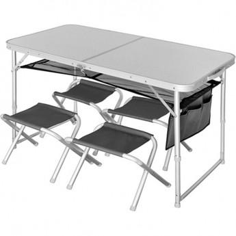 Стол складной NORFIN RUNN NF ALU 120x60 + 4 стула набор