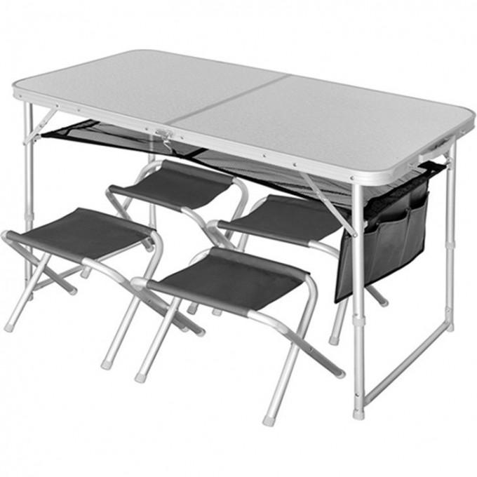 Стол складной NORFIN RUNN NF ALU 120x60 + 4 стула набор NF-20310