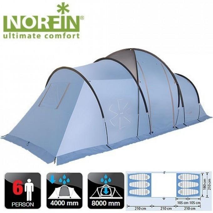 Палатка кемпинговая 6-ти местная NORFIN MOSS 6 NFL NFL-10210