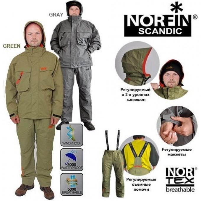 Костюм демисезонный NORFIN SCANDIC GRAY 06 Р.xxxl 6141006-XXXL